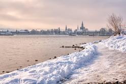 Winter in Konstanz - aufgenommen im Januar 2021Lizenzerwerb durch MTK
